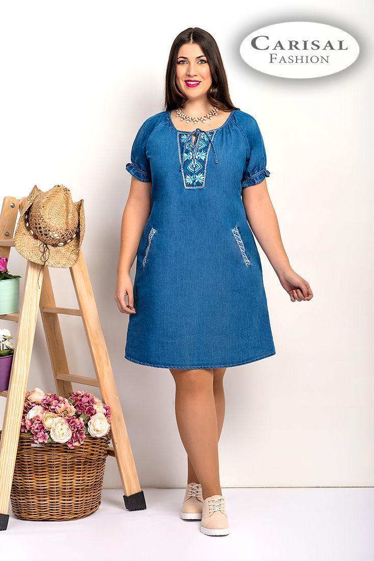Vestidos Mujeres Tallas Grandes azul