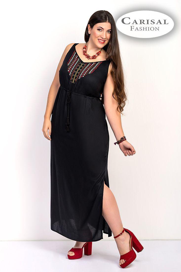 Vestidos Mujeres Tallas Grandes negro