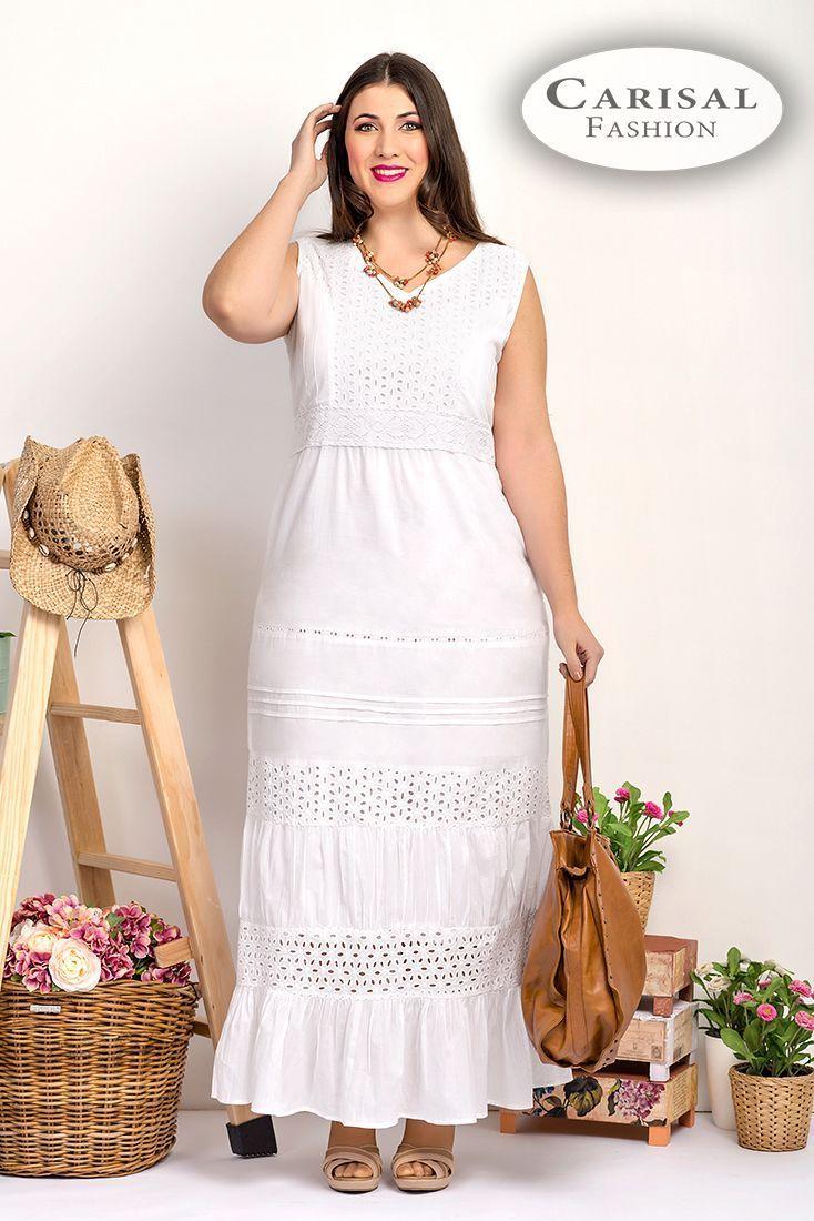 Vestidos Mujeres Tallas Grandes blanco