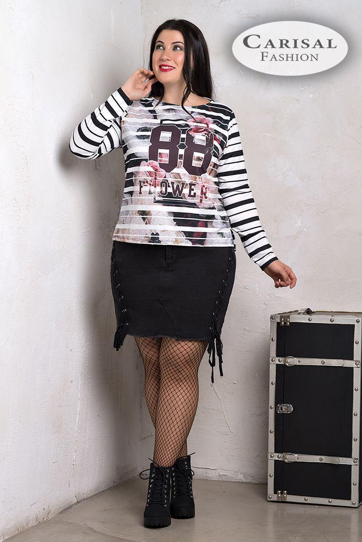 Camisetas Mujer Tallas Grandes rayas