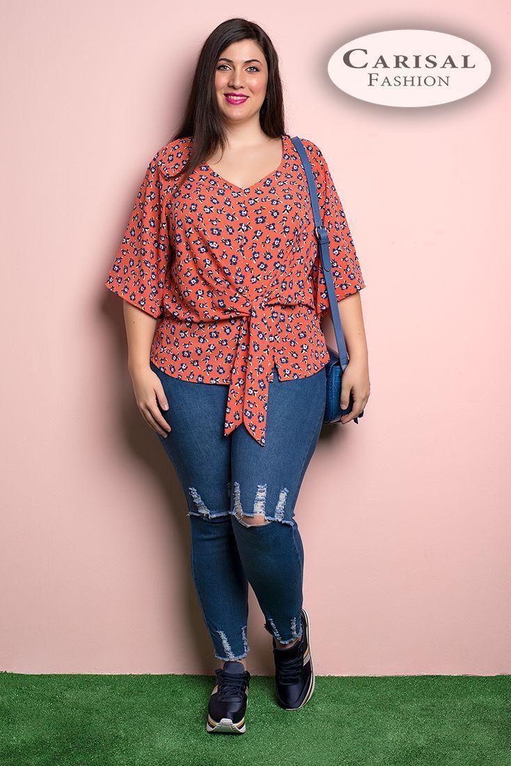 Blusas tallas grandes mujeres al por mayor online | Carisalfashion®