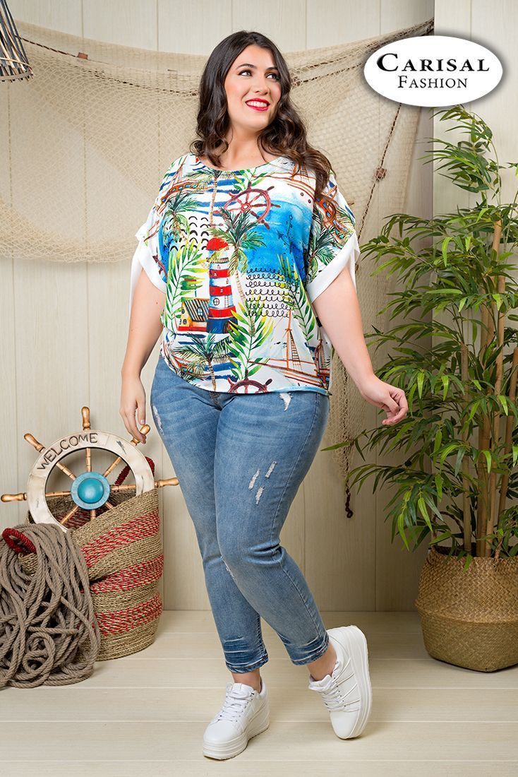 61e04b31af7 Camisetas tallas grandes mujer, comprar online | Carisalfashion