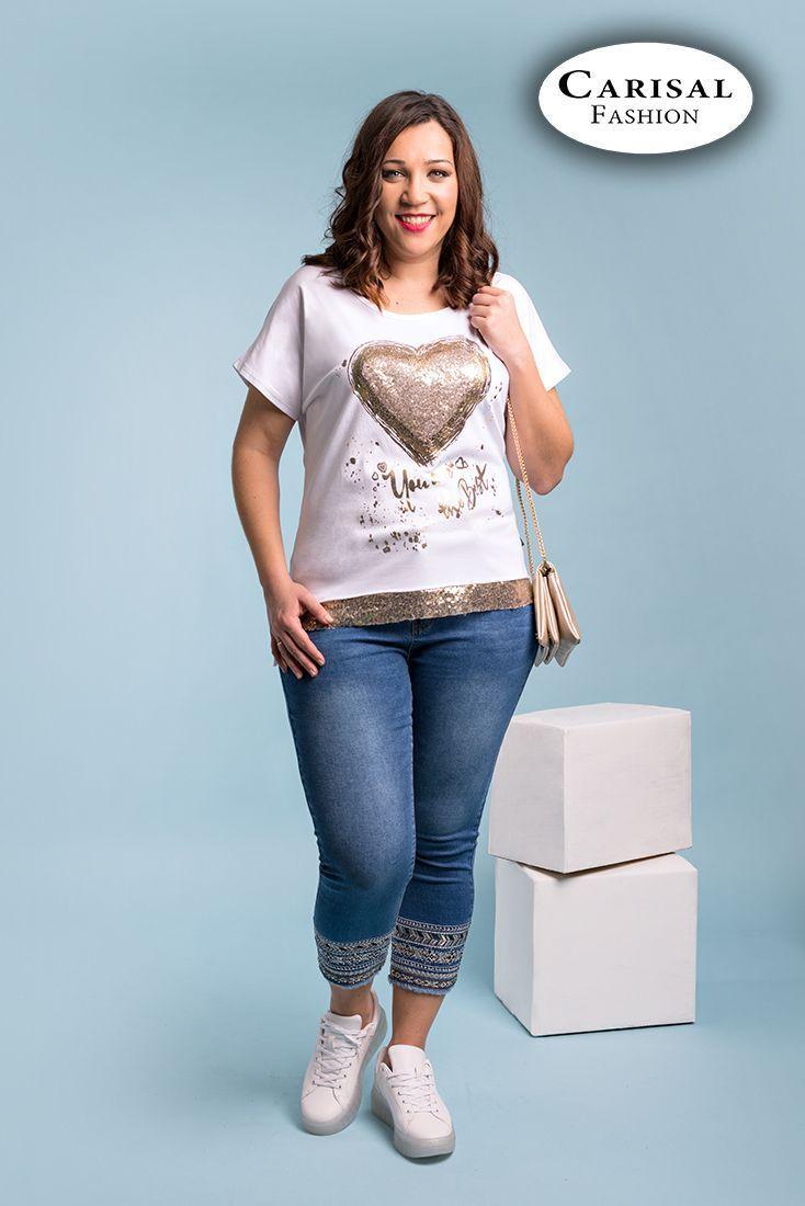 Camisetas Tallas Grandes Mujer Comprar Online Carisalfashion